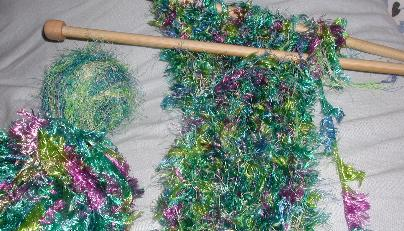 Crochet Scarf Using Fun Fur Only New Crochet Patterns